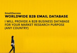 2906I will research B2B Worldwide email database in any 99 countries
