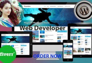 3493I will create professional and responsive WordPress website
