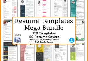 3161I will send you 170 editable resume templates and 50 resume covers