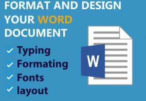 4310I will edit ms word document, formatting and convert PDF