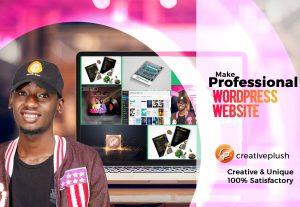 5788I will create a wordpress website or wordpress website design